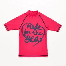 Camiseta Natación Fucsia Niña Paraqua