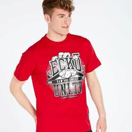 Camiseta Roja Hombre Ecko Hand Smash
