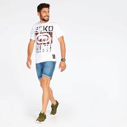 Camiseta Blanca Hombre Ecko Cracked