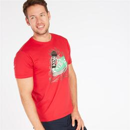 Camiseta TRUNK & ROOTS Roja Hombre