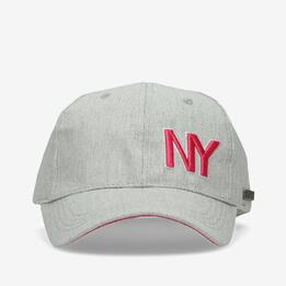 Gorra Silver Gris Rosa Mujer