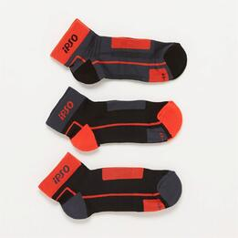 Pack Calcetines Running Ipso Gris Hombre
