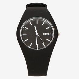 Reloj Silver Negro Blanco Mujer