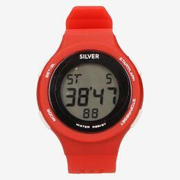 Reloj Sport Silver Rojo Hombre