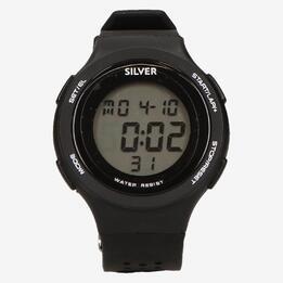 Reloj Sport Silver Negro Hombre