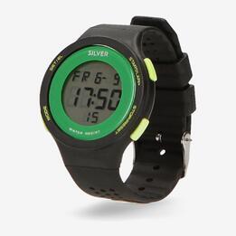 Reloj Sport Silver Negro Verde Hombre