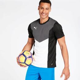 Camiseta Fútbol Puma Negra Hombre