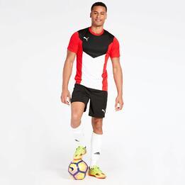 Camiseta Fútbol Puma Roja Hombre