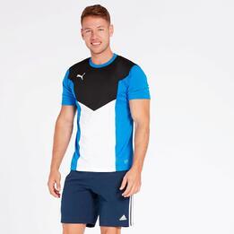 Camiseta Fútbol Puma Azul Hombre