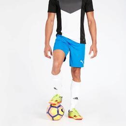 Pantalón Fútbol Puma Azul Hombre
