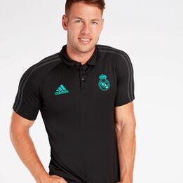 Polo Real Madrid C.F. Negro Hombre