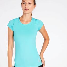 Camiseta Básica Turquesa Mujer Ilico