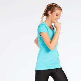 Camiseta Running Turquesa Mujer Ipso