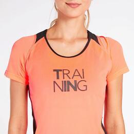 Camiseta Running Coral Mujer Ipso Combi