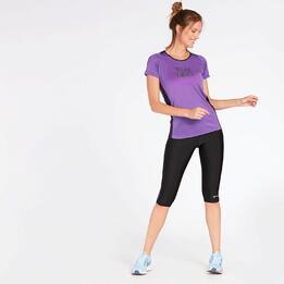 Camiseta Running Morada Mujer Ipso Combi