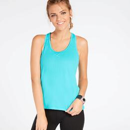 Camiseta Tirantes Azul Turquesa Mujer Ilico Basic