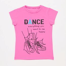 Camiseta Deporte Rosa Niña Ilico