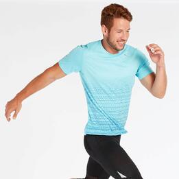 Camiseta Running Puma Graphics Azul Hombre