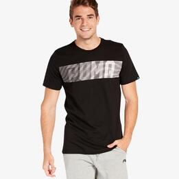 Camiseta Manga Larga Puma Negra