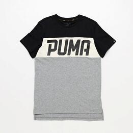 Camiseta Manga Corta Puma Style Gris Junior