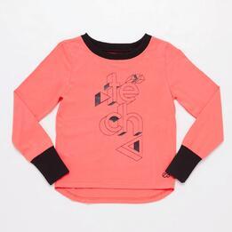 Camiseta manga larga coral Junior