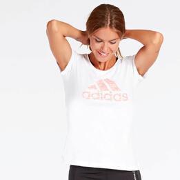 Camiseta adidas Blanca Mujer