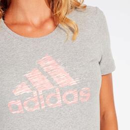 Camiseta adidas Gris Mujer
