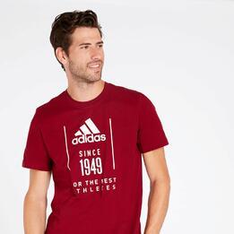 Camiseta adidas 1949 Granate Hombre