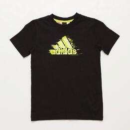 Camiseta adidas Negro Niño (10 16)