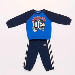 Chándal adidas Azul Marino Bebé (12m-36m)