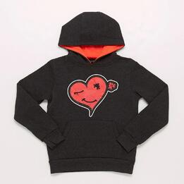 Sudadera Gris Corazon Niña Up Basic