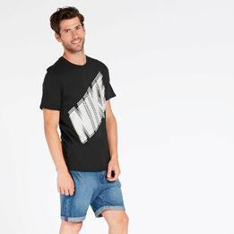 Camiseta Nike Block Negra Hombre