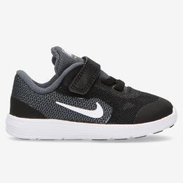 Zapatillas Running Nike Revolution 3 Niño Negras (21-27)