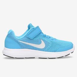 Zapatillas Running Nike Revolution 3 Azules Niño (28,5-35)