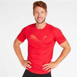 Camiseta Running Puma Rojo Hombre