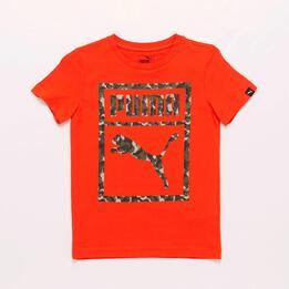 Camiseta Naranja Niño Puma Camo
