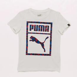Camiseta Blanca Niño Puma Camo