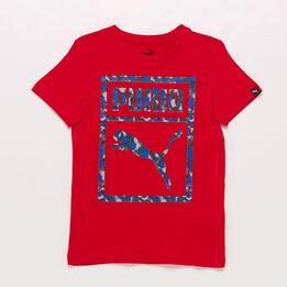 Camiseta Roja Niño Puma Camo