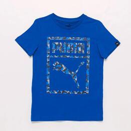 Camiseta Azul Niño Puma Camo