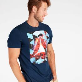 Camiseta Reebok Azul Marino Hombre