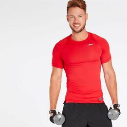Camiseta Compresión Nike Roja