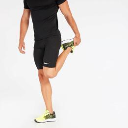 Malla Corta Running Nike Negra Mujer