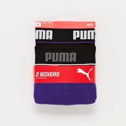 Pack Calzoncillos Puma Boxer Morado Negro