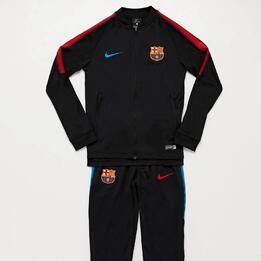Chándal FC Barcelona Negro Niño (10-16)