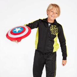 Chándal Capitán América Negro Niño (10-16)