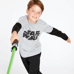 Camiseta Star Wars Gris Niño (10-16)