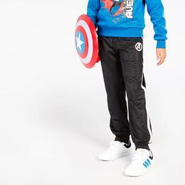 Pantalón Capitán América Negro Blanco Niño (10-16)