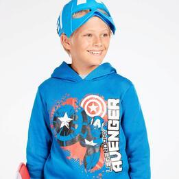 Sudadera Capitán América Azul Niño (10-16)