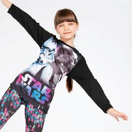 Camiseta Star Wars Negra Niña (10-16)