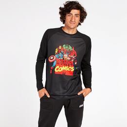 Camiseta Marvel Hombre Negra